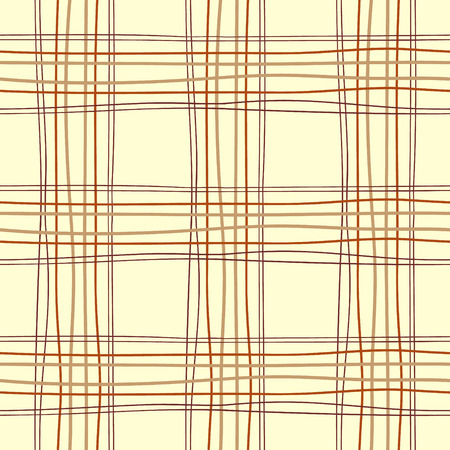 Tartan table endless vector. Hand-drawn crooked stripes. Colored lines seamless pattern.