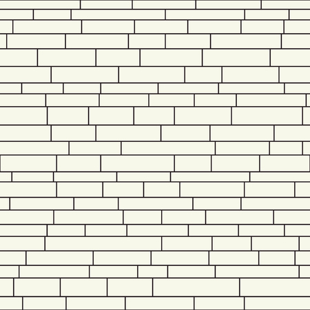 Continuous brickwall vector. Architecture decor. Monochrome brick structure seamless pattern. Иллюстрация