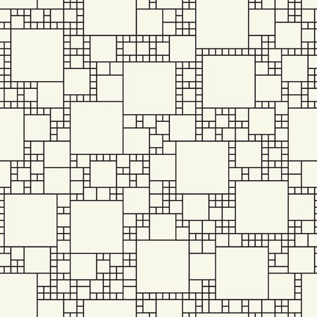 Squares of different sizes. Cube vector structure. Continuous wallpaper decor. Poster seamless pattern. Иллюстрация