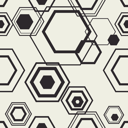 Hexagon contour vector compozition. Polygon stylish background. Wallpaper seamless pattern. Иллюстрация