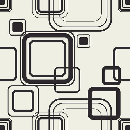 Minimal squares contour design. Trendy wallpaper. Print seamless pattern. Фото со стока - 121667027