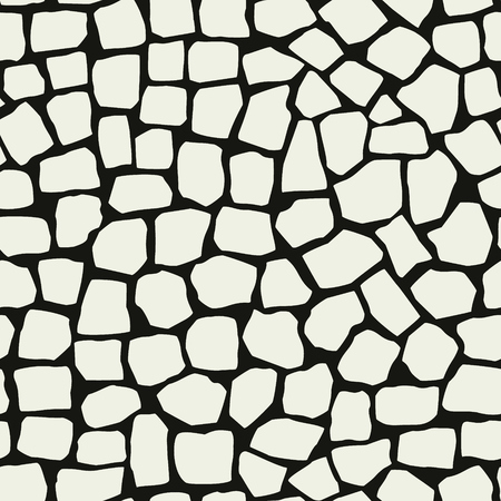 Irregular marble pavement seamless pattern decor. Mosaic vector structure. Фото со стока - 121667040