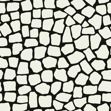 Unregelmäßige Marmorpflaster nahtlose Musterdekor. Mosaikvektorstruktur. Vektorgrafik