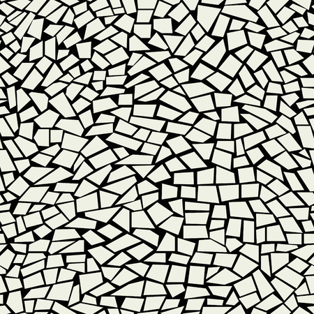 Marble masonry vector background. Bathroom floor design. Mosaic seamless pattern. Irregular cracked facade. Illustration
