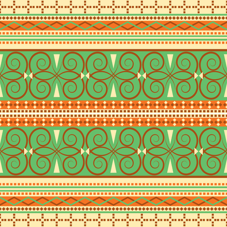 Beautiful traditional motifs endless vector background. Continuous vintage texture. Fabric seamless pattern.