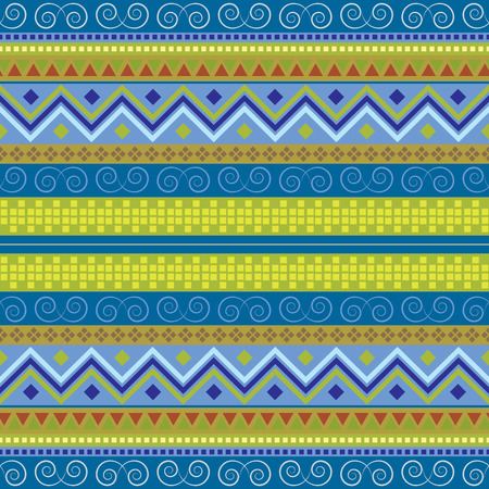 Colored ethnic vector background. Traditional motifs texture. National carpet seamless pattern. Фото со стока - 121667049