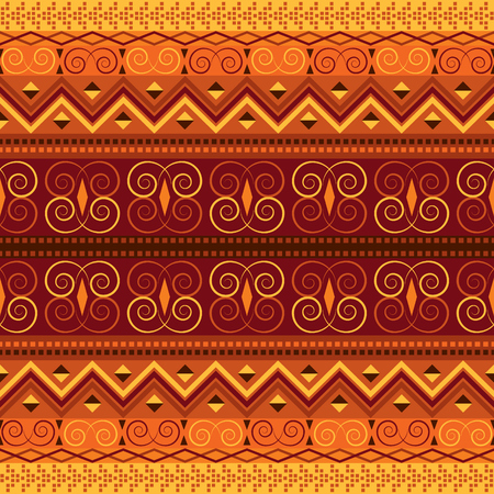 Retro carpet design. Ethnic vector background. Traditional motifs seamless pattern. Иллюстрация