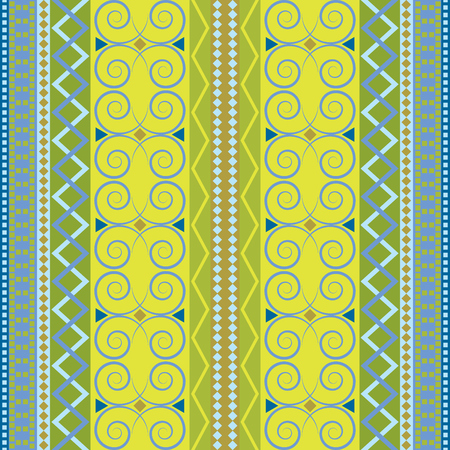 Vintage carpet vector endless. Traditional motifs seamless pattern. Colored fabric decor. Иллюстрация