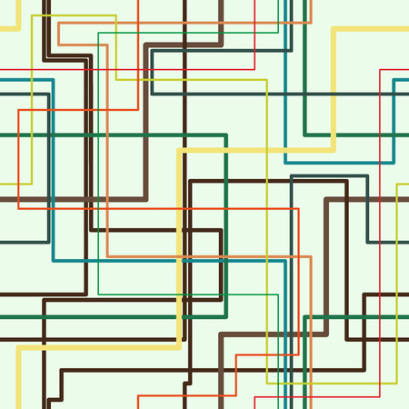 Colorful network tube vector background. Pipeline system seamless pattern.