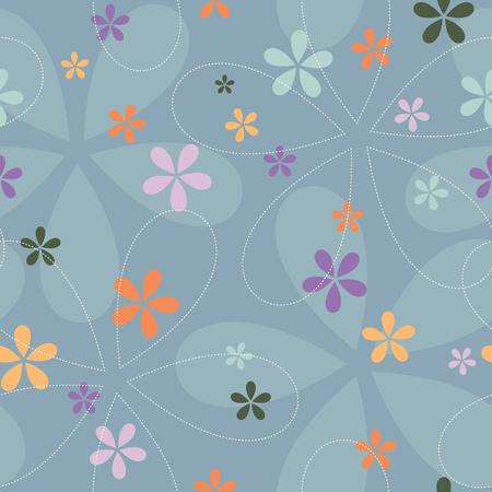 Floral romantic decor endless vector. Elegant swirl seamless pattern. 일러스트