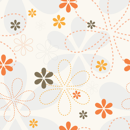 Ornamental petal flower endless vector. Romantic background. Seamless pattern wallpaper.