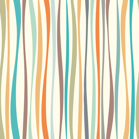 Colorful undulated shapes vector structure. Endless wallpaper. Pastel colors wave lines seamless pattern.