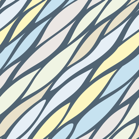 Diagonal tremulous line structure. Endless smooth waves vector background. Asymmetry streak seamless pattern. 일러스트