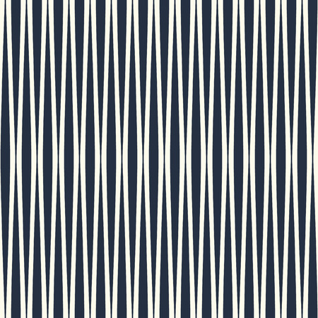 Vertical wavy lines seamless pattern. Monochrome vector background.
