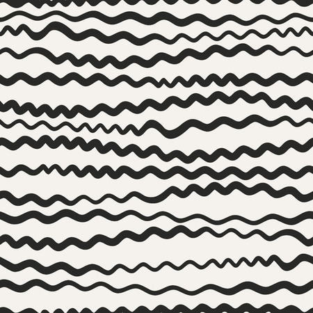 Endless sinuous asymmetric lines. Wavy vector decor. Undulate seamless pattern.