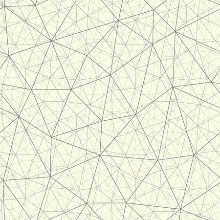Endless lines cobweb vector format. Decorative complicated grid seamless pattern. Monochrome network with 3D effect.