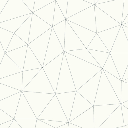 Monochrome low-poly grid. Simple web line structure in vector format. Wallpaper network connection seamless pattern. Vettoriali
