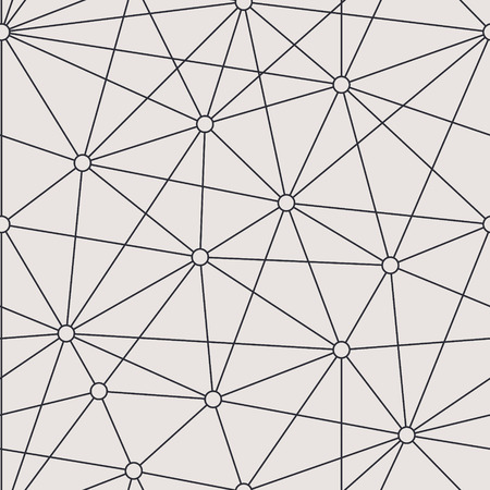 Endless bionic structure vector background. Grid seamless pattern.