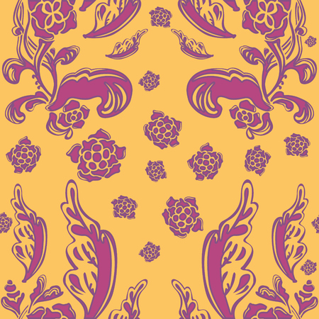 Creative vector background with floral elements that make a girl face. Delicate flower seamless pattern.