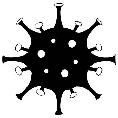 Vector silhouette of a coronavirus.  イラスト・ベクター素材