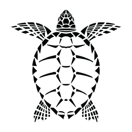 creative arts: Turtle mozaic Illustration