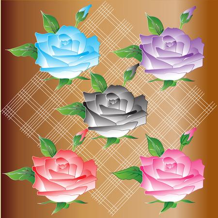 feb: Vintage roses design Illustration