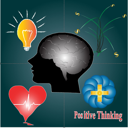 illustrators: Positive thinking for balance of life