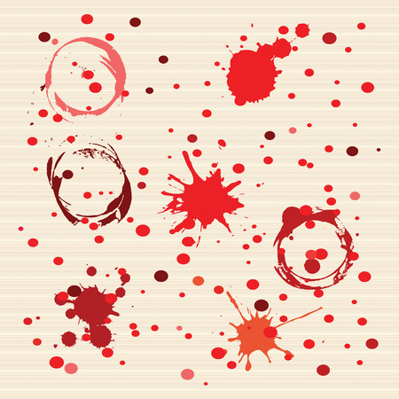 illustration technique: Red Dotted Art background created by vector illustration technique