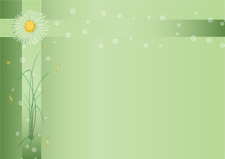 illustration technique: Spring Background PowerPoint size A4 created by vector illustration technique