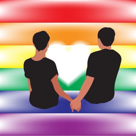 amor gay: gay relaci�n de amor en su bandera