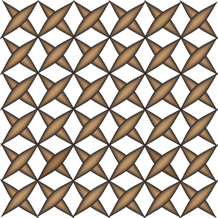 illustration technique: Geometric square box brown pattern vector created by illustration technique Illustration
