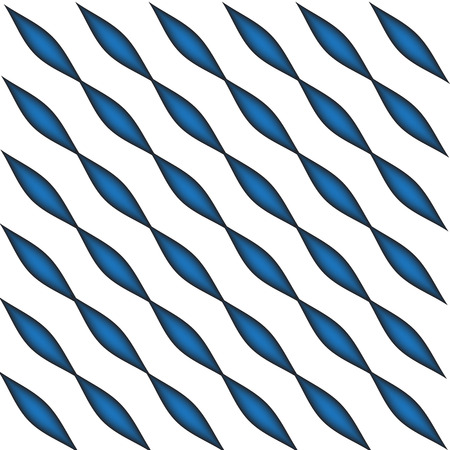 illustration technique: Geometric blue oval pattern vector created by illustration technique