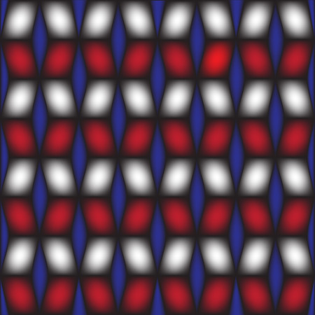 illustration technique: Geometric square box blue black and red vector created by illustration technique