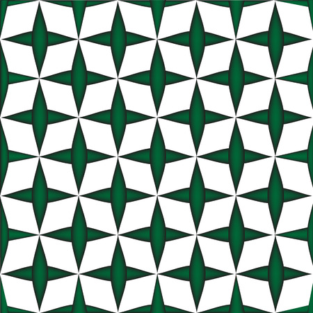 illustration technique: Geometric square box  green plus on white background vector created by illustration technique