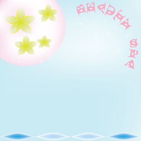 pale yellow: Beauty Spa Background with pale yellow flower and blue background