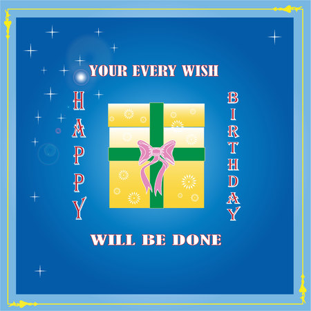illustration technique: Happy Birthday your every wish will be done created by vector illustration technique Illustration