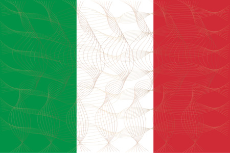 illustrator 10: Flag of Italian in art design illustrator vector ESP 10
