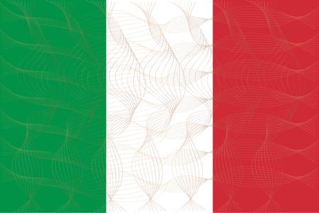 esp: Flag of Italian in art design illustrator vector ESP 10