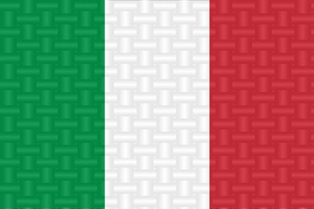 illustrator  vector: Flag of Italian in art design illustrator vector ESP 10
