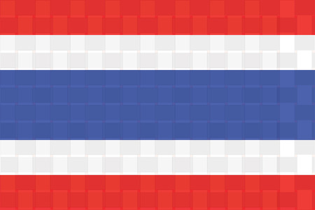 spangled: Thailnd flag standard size ratio and color mode red green blue  vector illustration Illustration