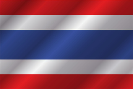 spangled: Thailand flag in art design illustration