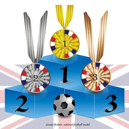 britain: Grate Britain national football league medal