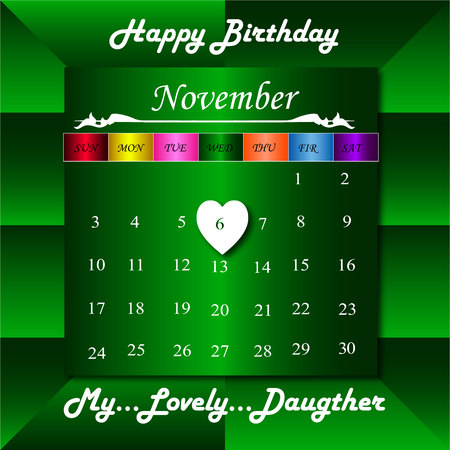 daugther: Happy Birthday to lovely daugther