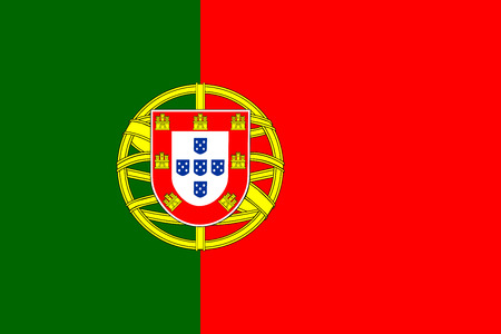 portugese: Portugal flag with standard proportion and color mode RGB