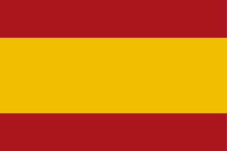 proportion: Spain Flag standard proportion and color mode RGB