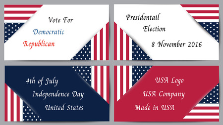 state election: Presidential election United State of America Illustration