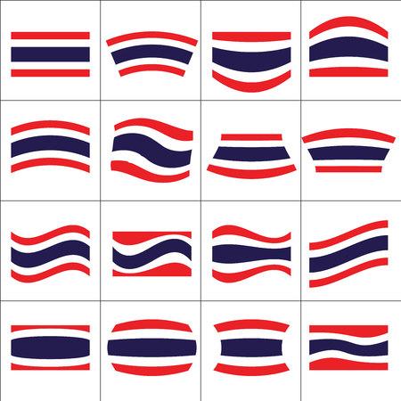 flying flag: Thiland National flag in set of flying flag