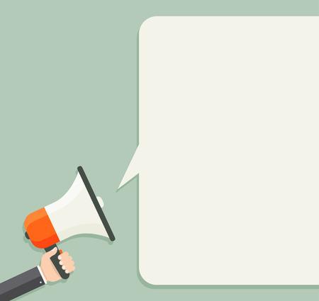 hablar en publico: Altavoz con bocadillo