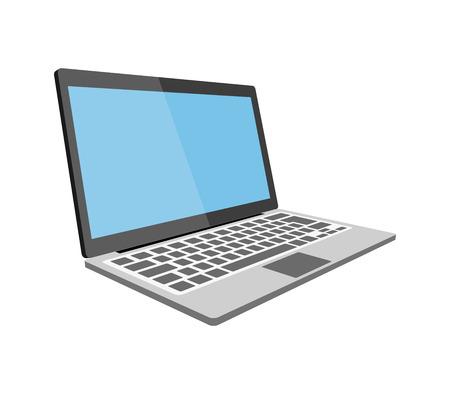 Laptop flat illustration