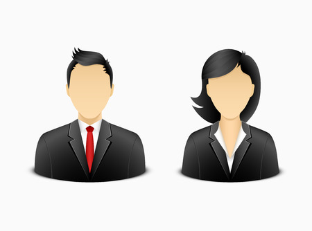 Office man and woman avatar. Illustration